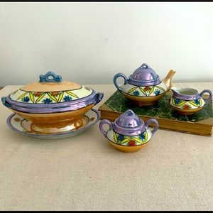 Vintage 5pc Dish Set
